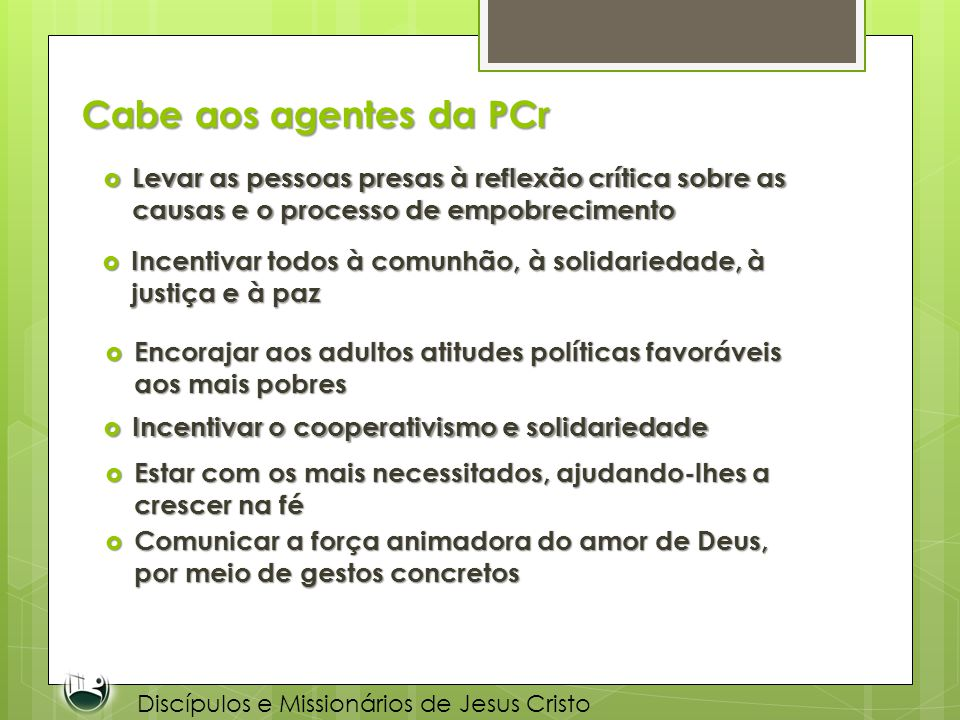 Discípulos e Missionários de Jesus Cristo