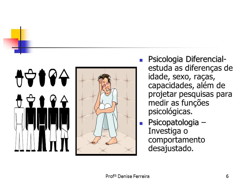 Psicopatologia – Investiga o comportamento desajustado.