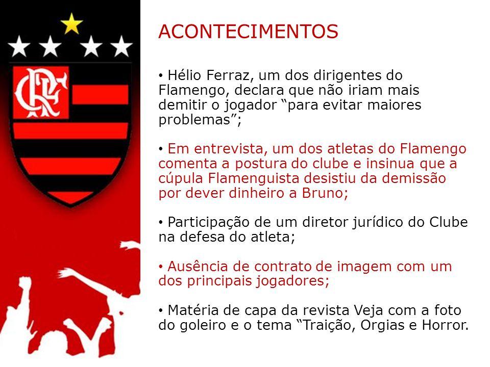 ACONTECIMENTOS Hélio Ferraz, um dos dirigentes do Flamengo, declara que não iriam mais demitir o jogador para evitar maiores problemas ;