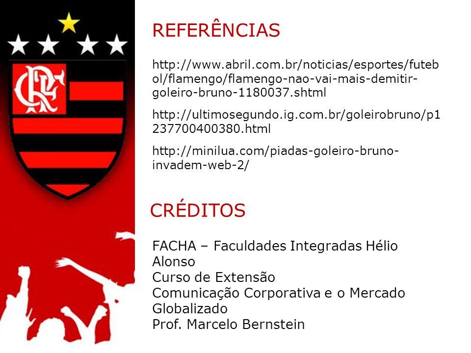 REFERÊNCIAS CRÉDITOS FACHA – Faculdades Integradas Hélio Alonso