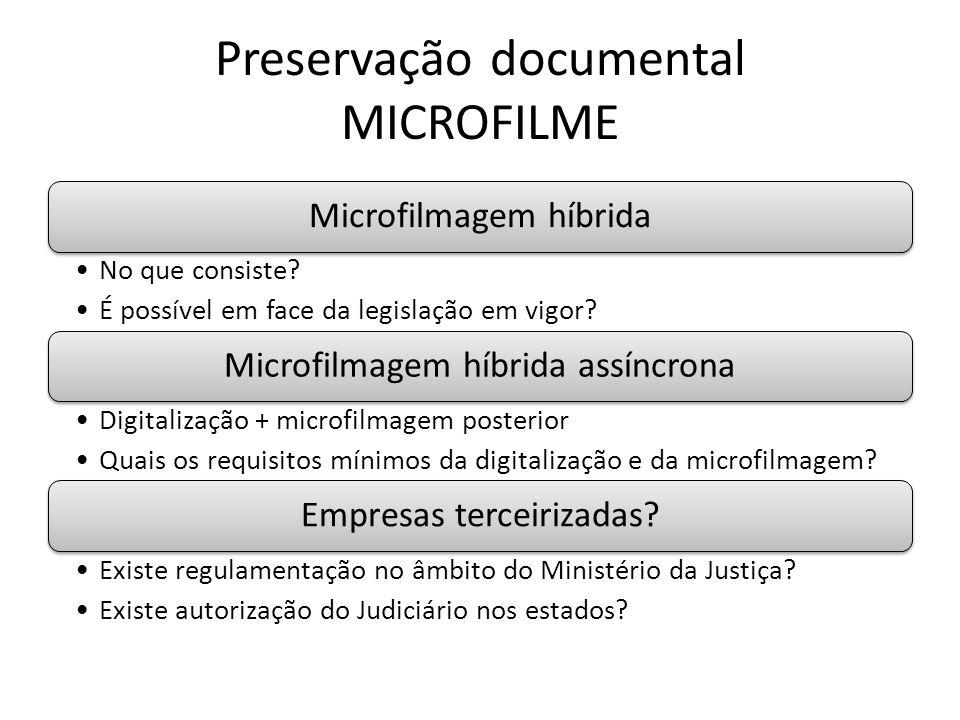 Preservação documental MICROFILME