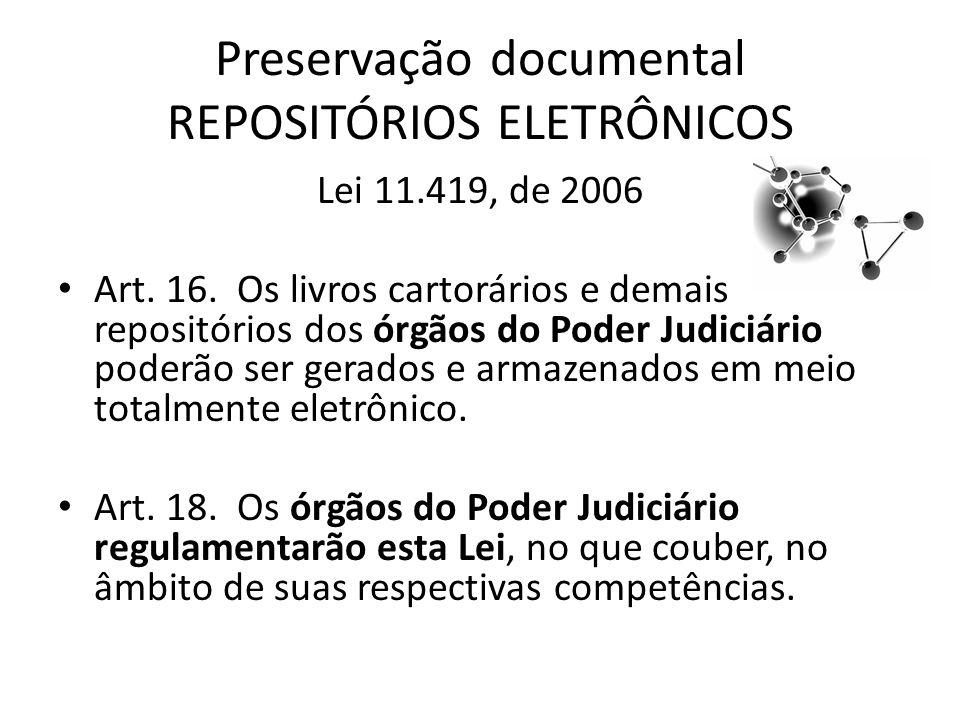 Preservação documental REPOSITÓRIOS ELETRÔNICOS