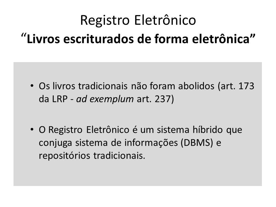Registro Eletrônico Livros escriturados de forma eletrônica
