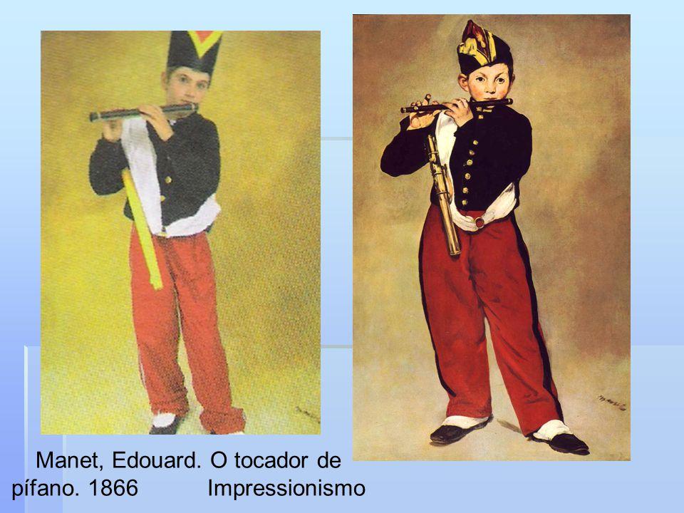 Manet, Edouard. O tocador de pífano. 1866 Impressionismo
