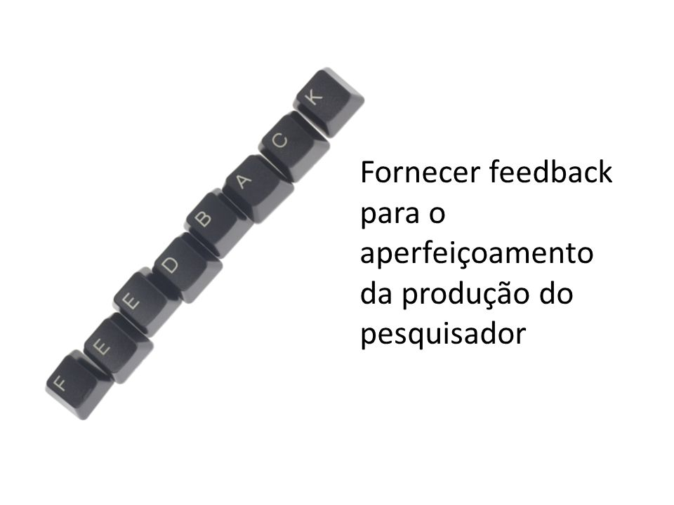 Fornecer feedback para o aperfeiçoamento da produção do pesquisador