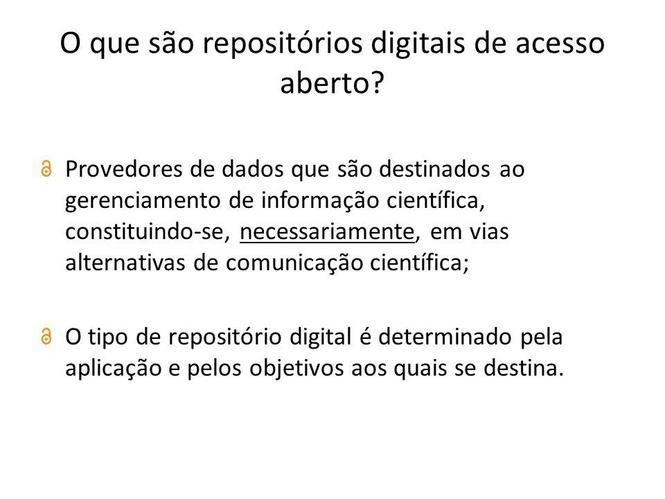 O que são repositórios digitais de acesso aberto
