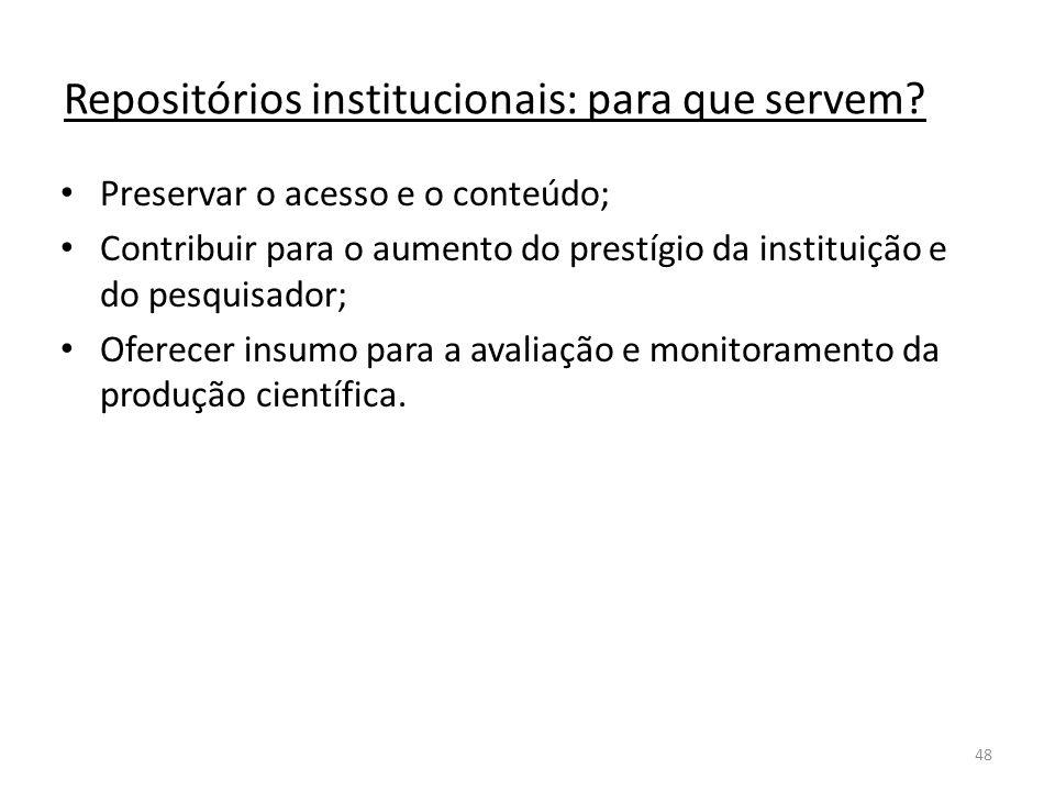 Repositórios institucionais: para que servem