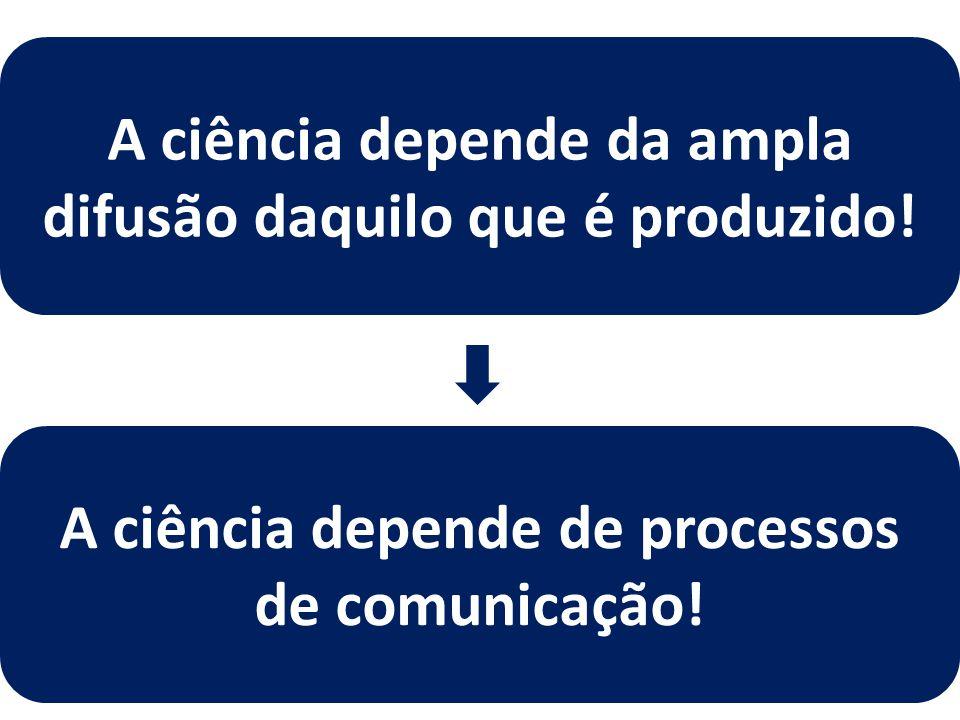 A ciência depende da ampla difusão daquilo que é produzido!