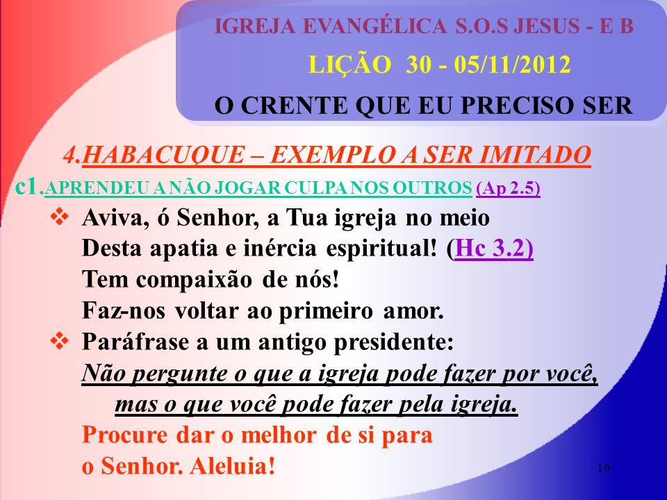 4.HABACUQUE – EXEMPLO A SER IMITADO