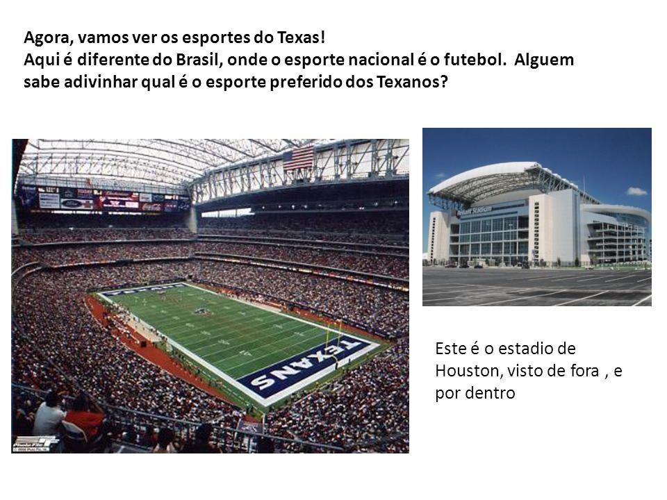 Agora, vamos ver os esportes do Texas!