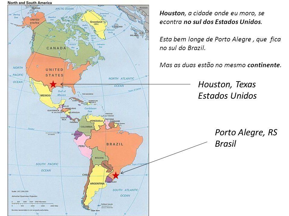 Houston, Texas Estados Unidos Porto Alegre, RS Brasil