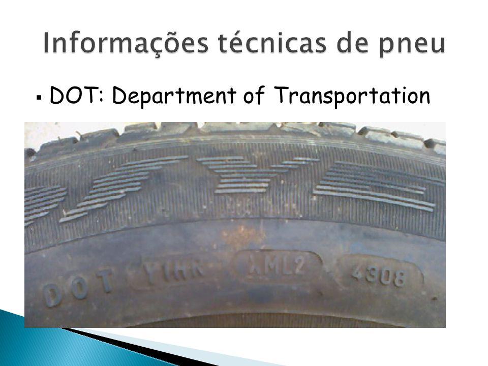 Informações técnicas de pneu