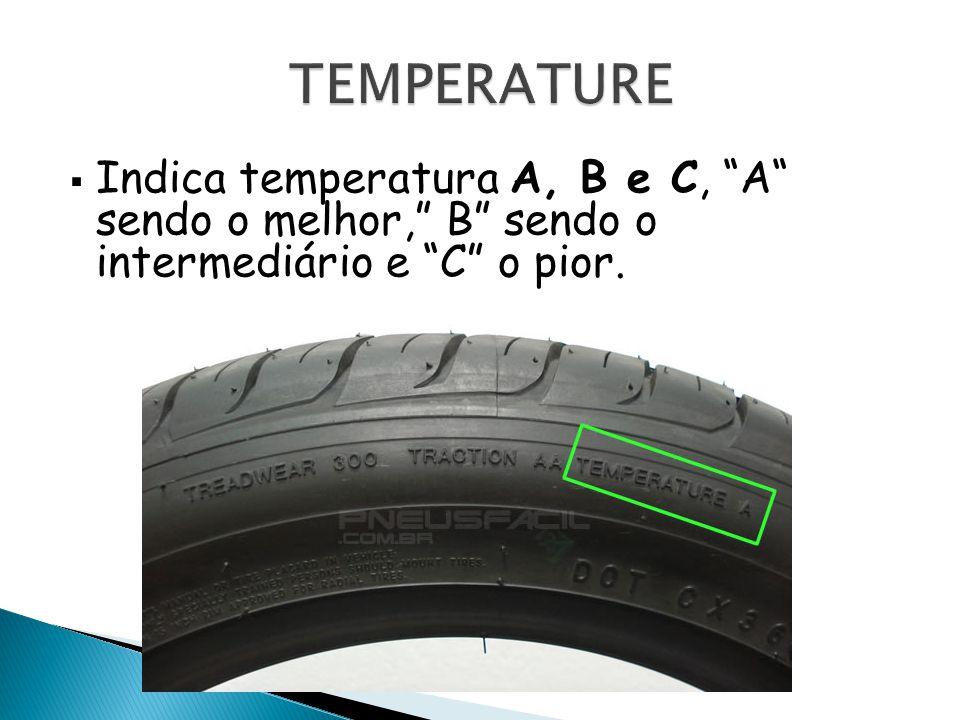 TEMPERATURE Indica temperatura A, B e C, A sendo o melhor, B sendo o intermediário e C o pior.