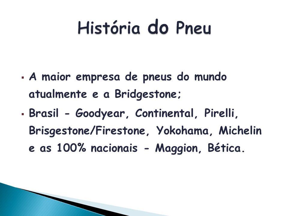 História do Pneu A maior empresa de pneus do mundo atualmente e a Bridgestone;