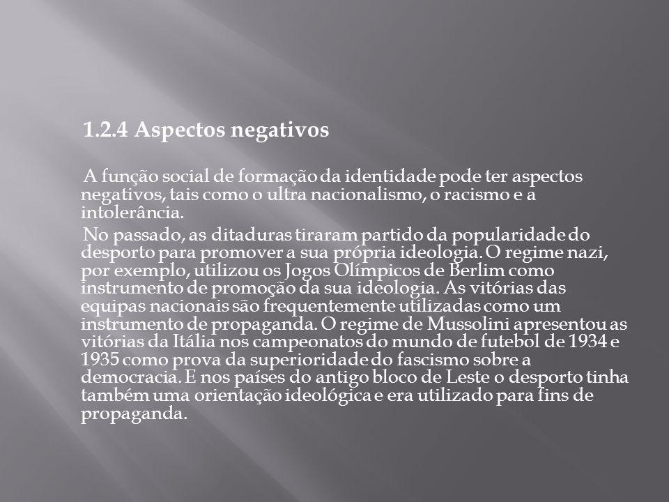 1.2.4 Aspectos negativos