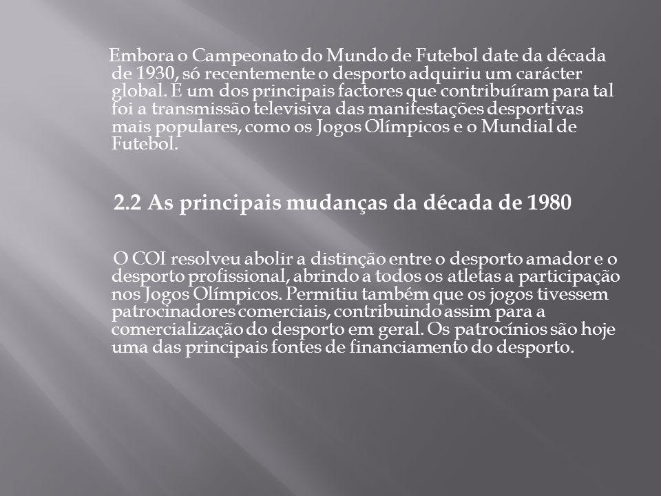 2.2 As principais mudanças da década de 1980