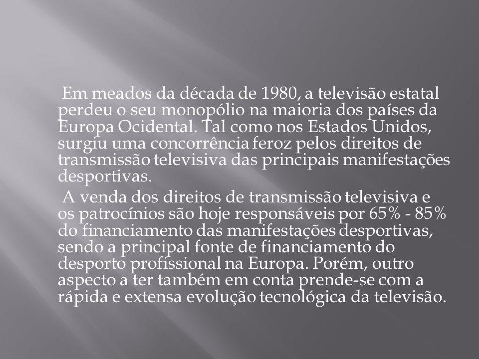 Em meados da década de 1980, a televisão estatal perdeu o seu monopólio na maioria dos países da Europa Ocidental.