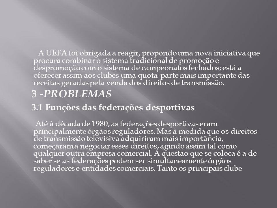 3.1 Funções das federações desportivas
