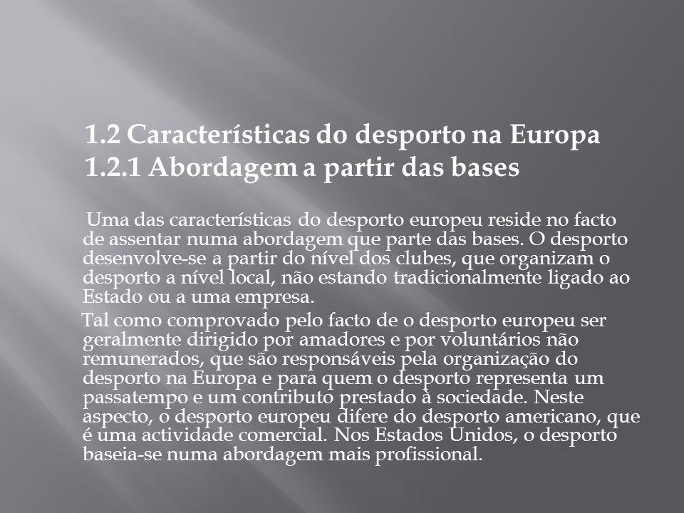 1.2 Características do desporto na Europa