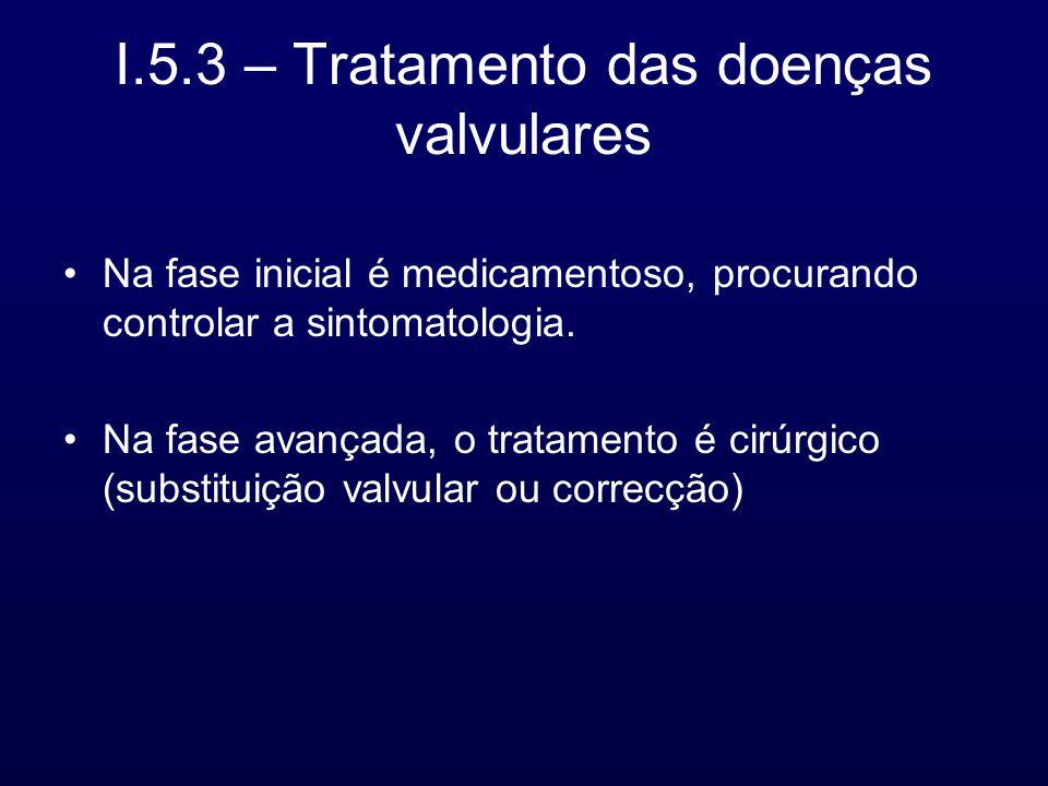I.5.3 – Tratamento das doenças valvulares