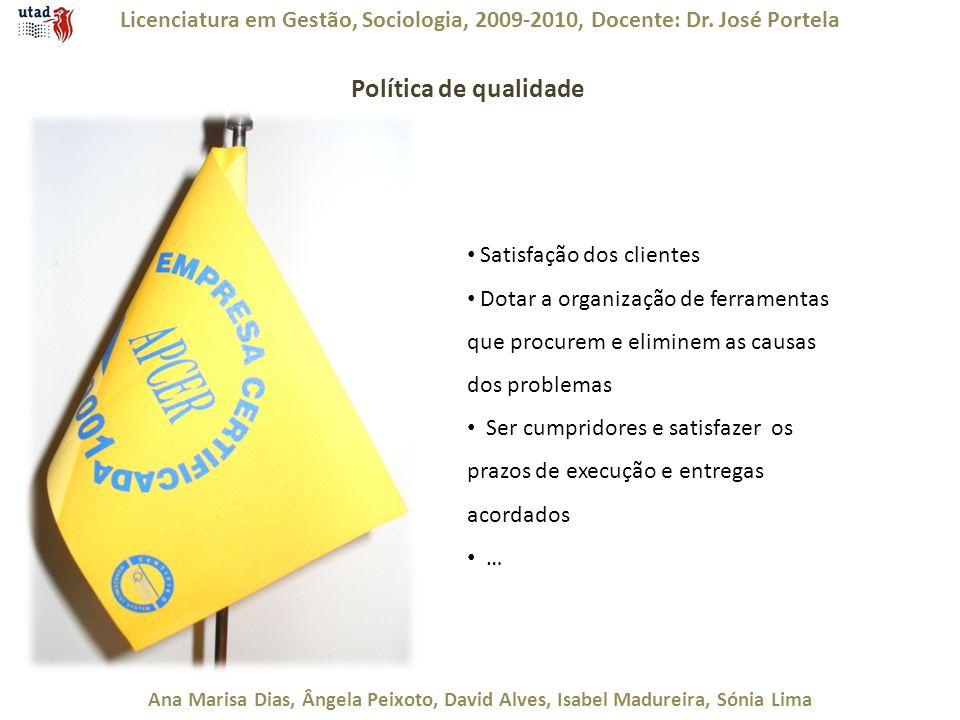 Licenciatura em Gestão, Sociologia, 2009-2010, Docente: Dr