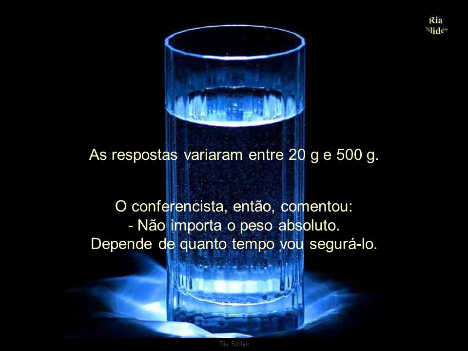 As respostas variaram entre 20 g e 500 g.