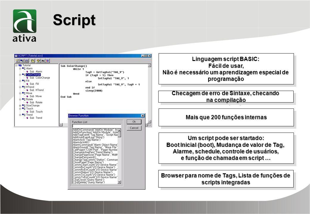 Script Linguagem script BASIC: Fácil de usar,
