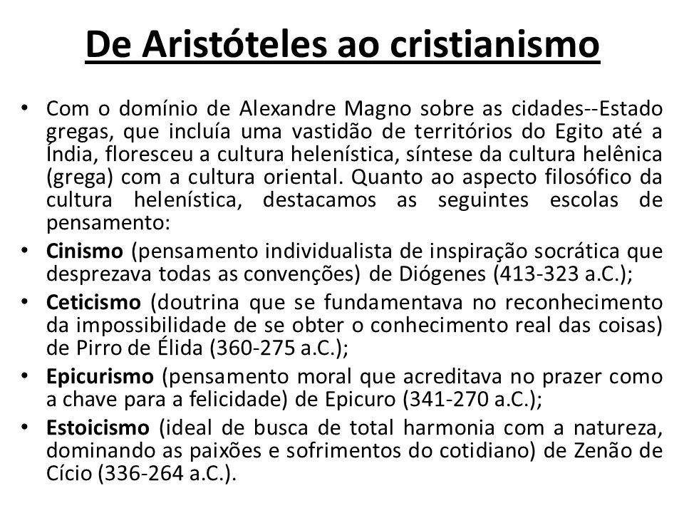 De Aristóteles ao cristianismo