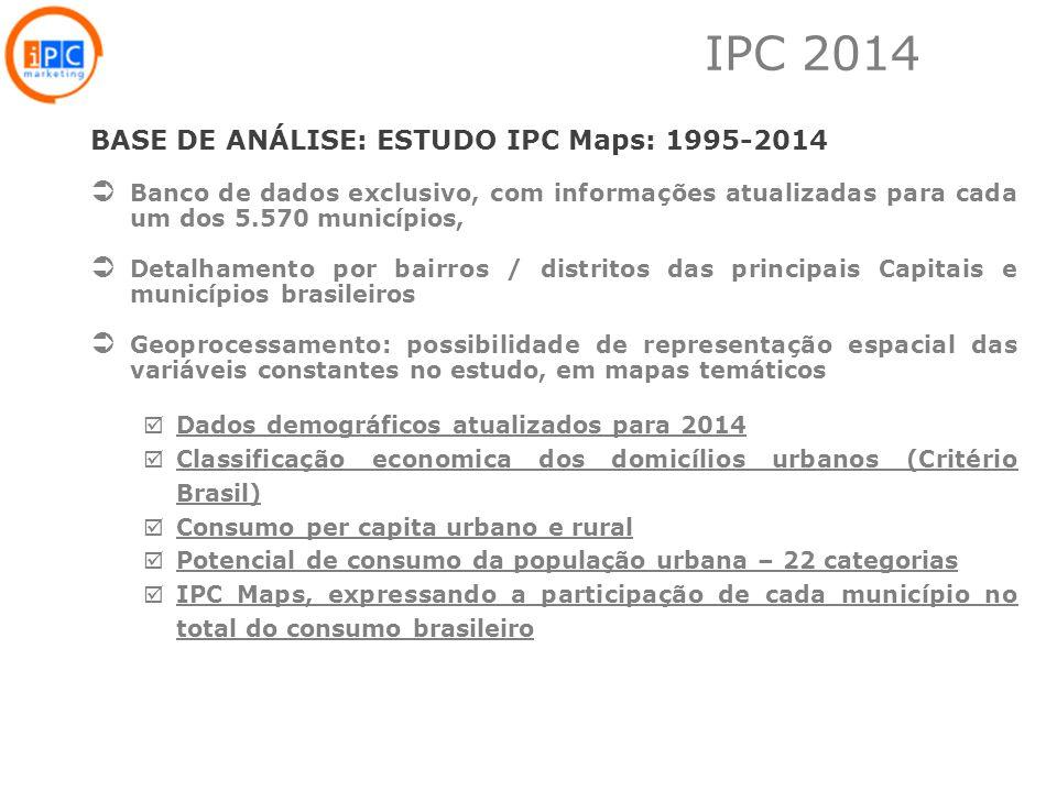 IPC 2014 BASE DE ANÁLISE: ESTUDO IPC Maps: 1995-2014