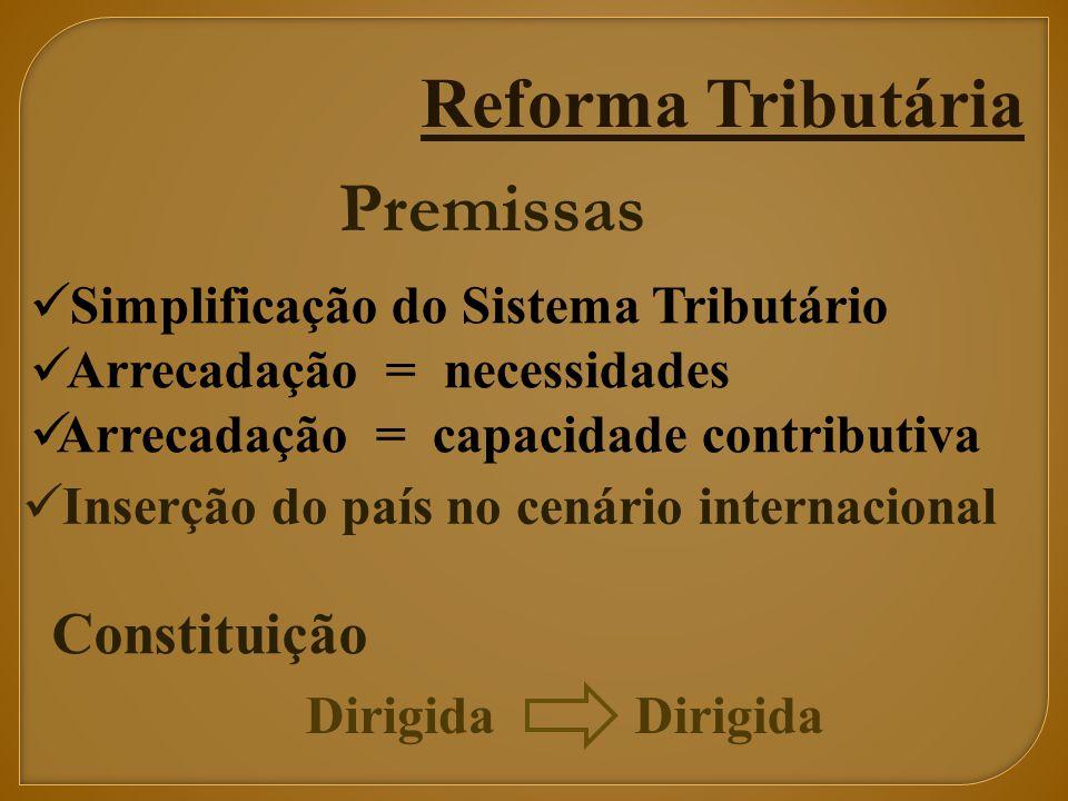 Reforma Tributária Premissas Constituição