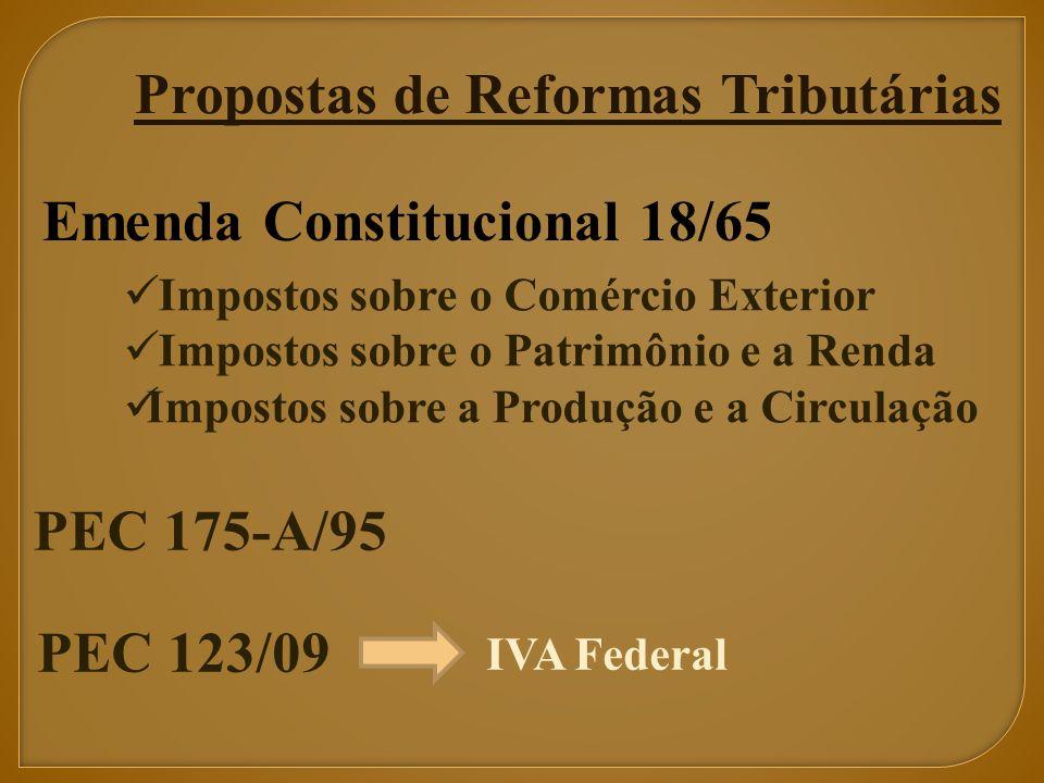 Propostas de Reformas Tributárias
