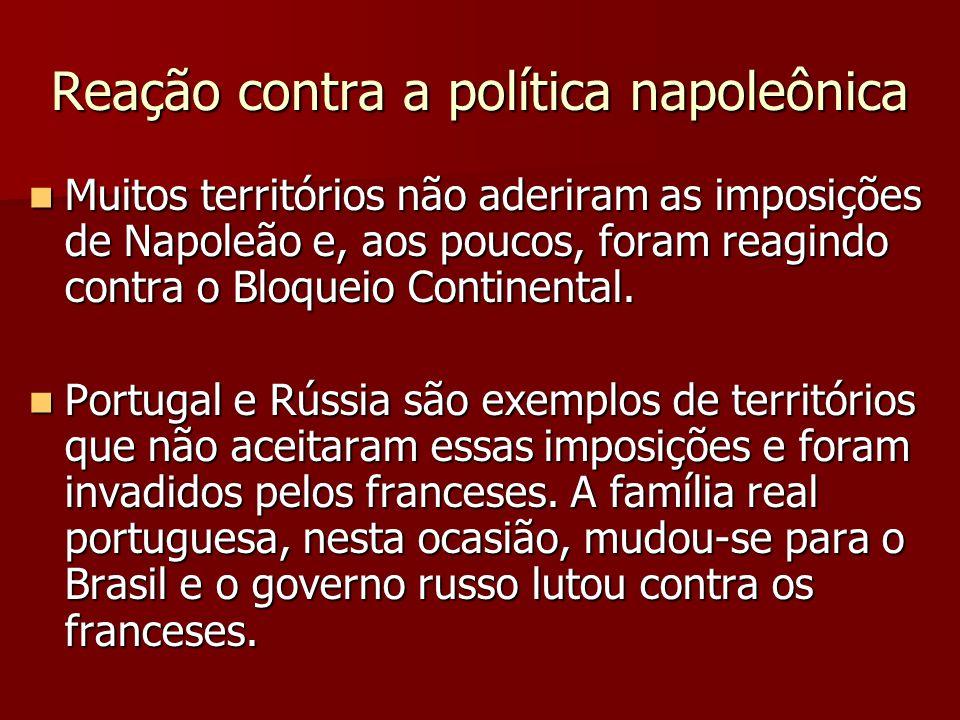Reação contra a política napoleônica