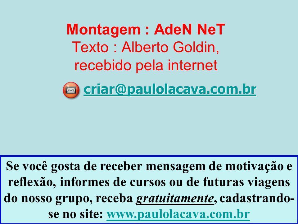 Montagem : AdeN NeT Texto : Alberto Goldin, recebido pela internet