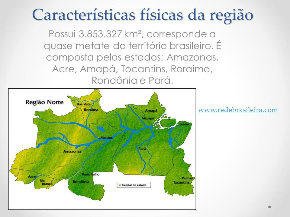 Características físicas da região