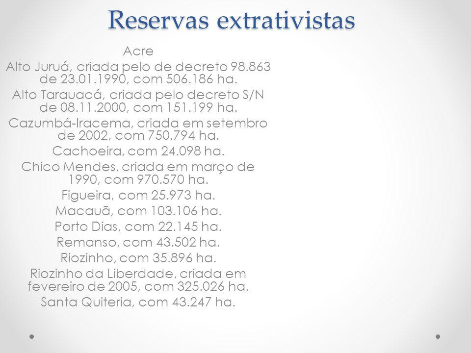 Reservas extrativistas