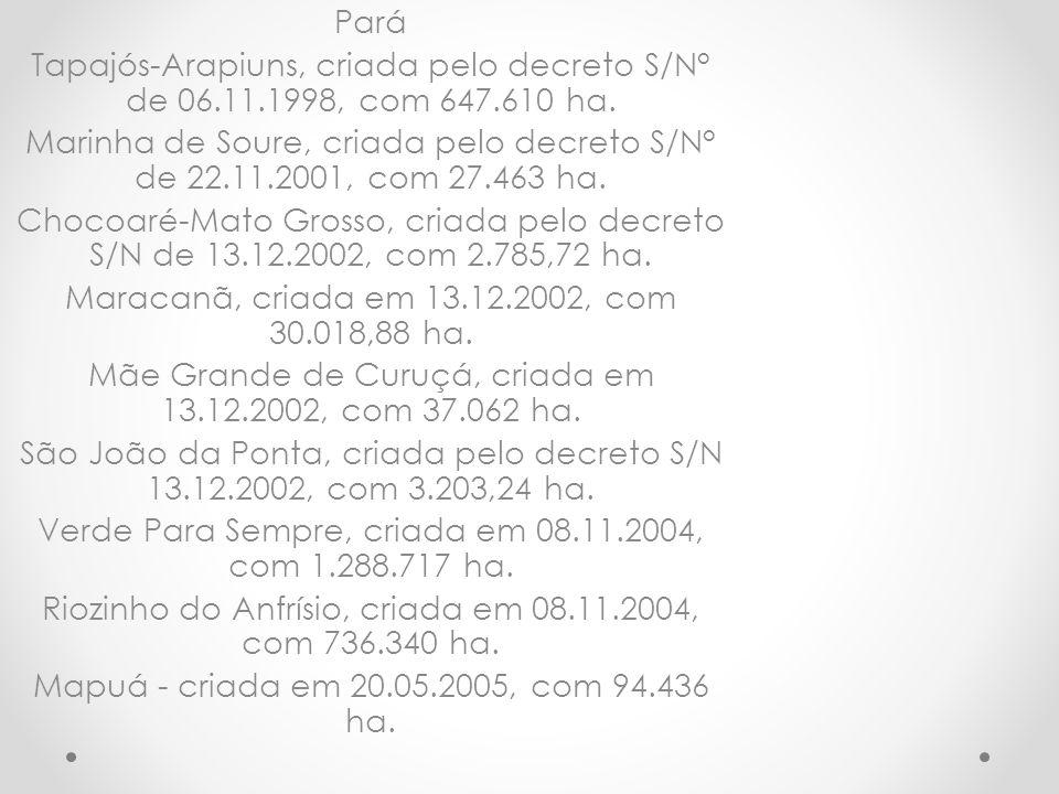 Maracanã, criada em 13.12.2002, com 30.018,88 ha.