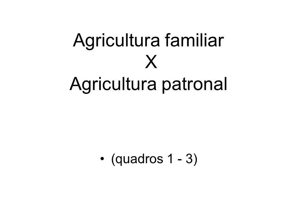 Agricultura familiar X Agricultura patronal