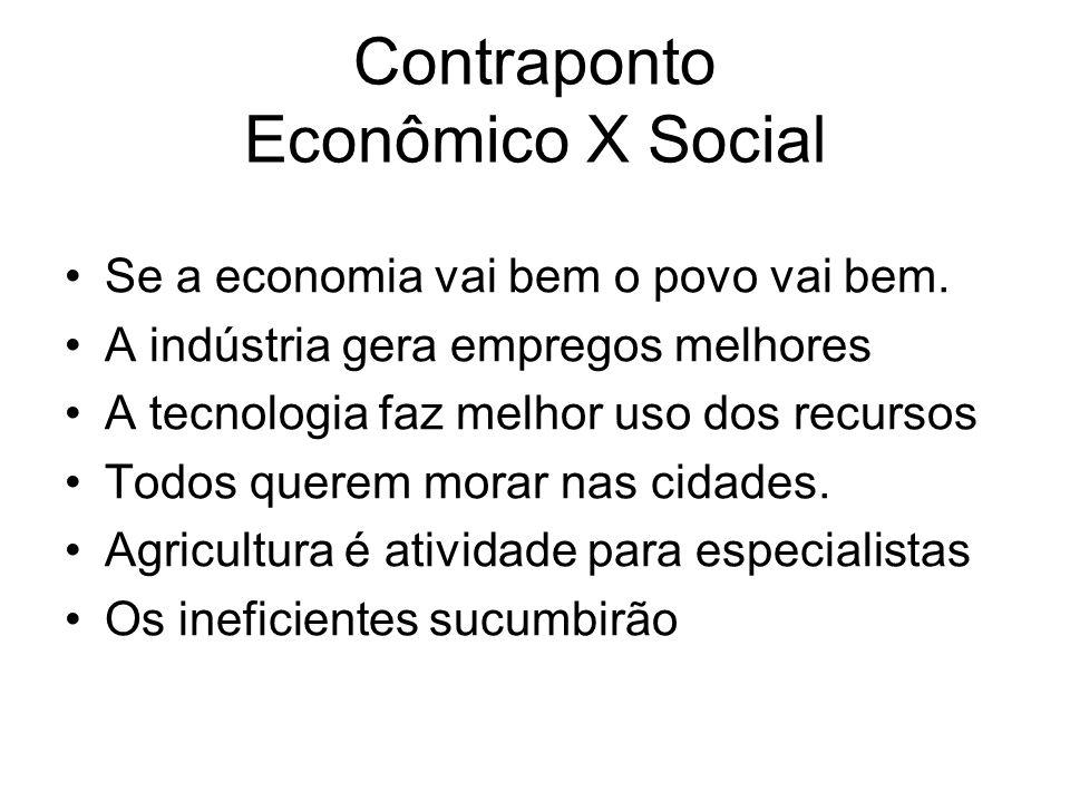 Contraponto Econômico X Social