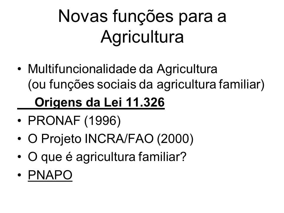 Novas funções para a Agricultura