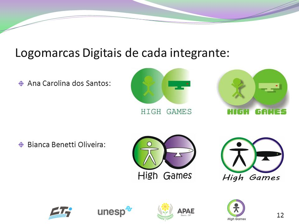 Logomarcas Digitais de cada integrante: