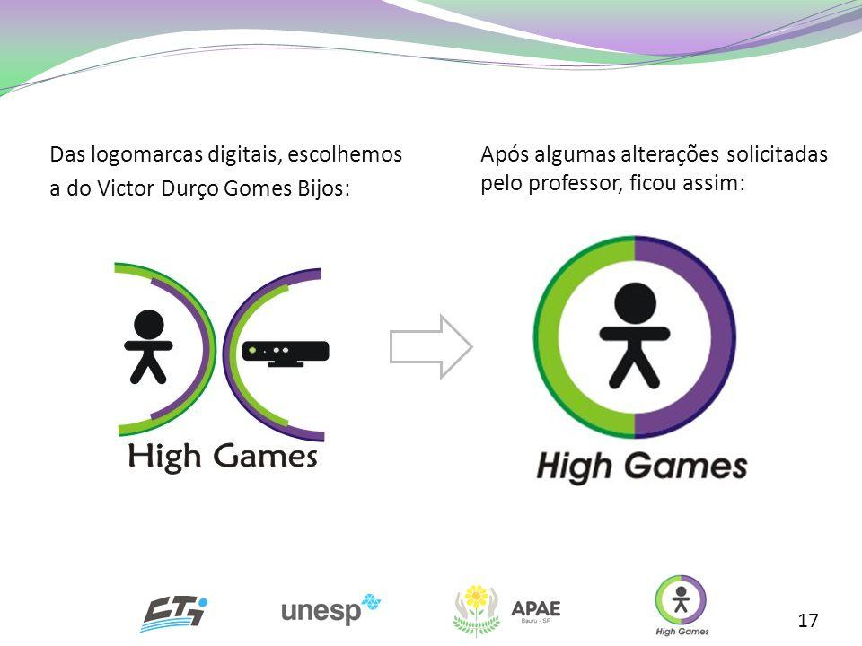 Das logomarcas digitais, escolhemos a do Victor Durço Gomes Bijos:
