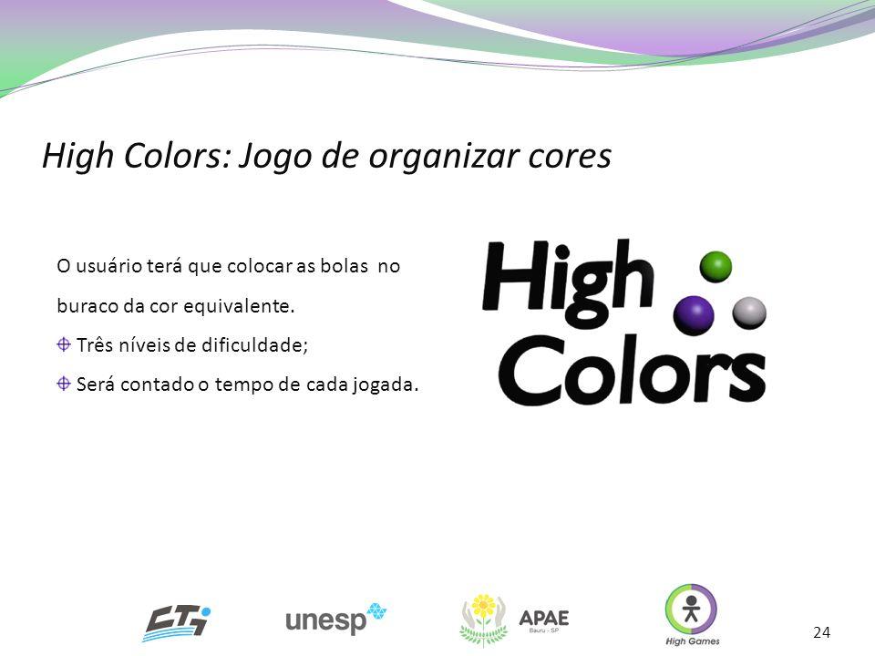 High Colors: Jogo de organizar cores