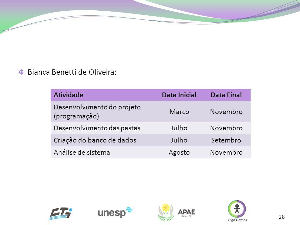 Bianca Benetti de Oliveira: