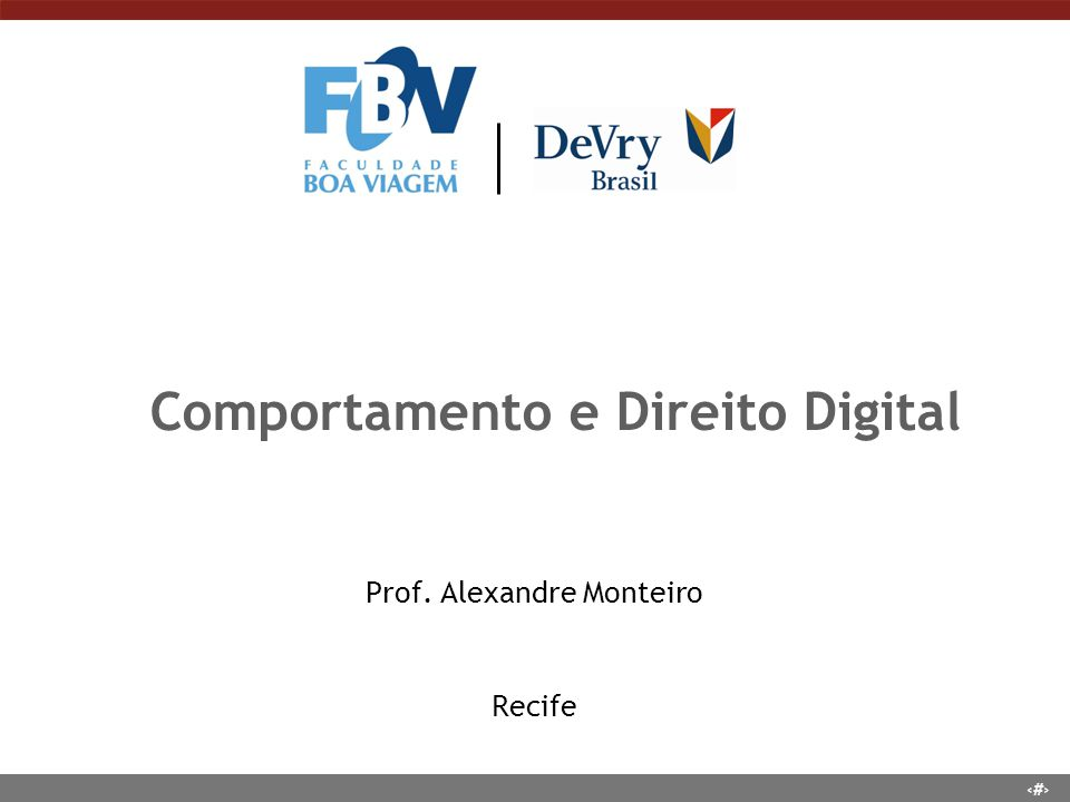 Comportamento e Direito Digital