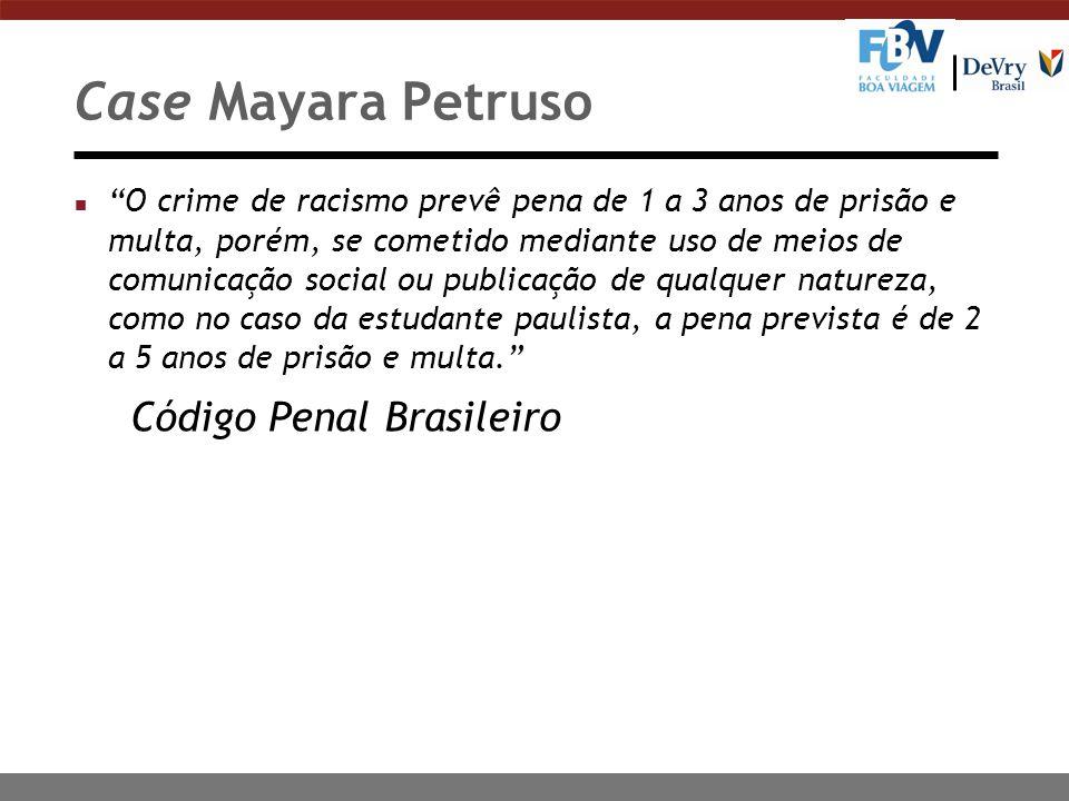 Case Mayara Petruso Código Penal Brasileiro