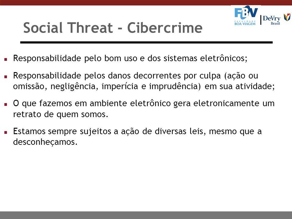 Social Threat - Cibercrime