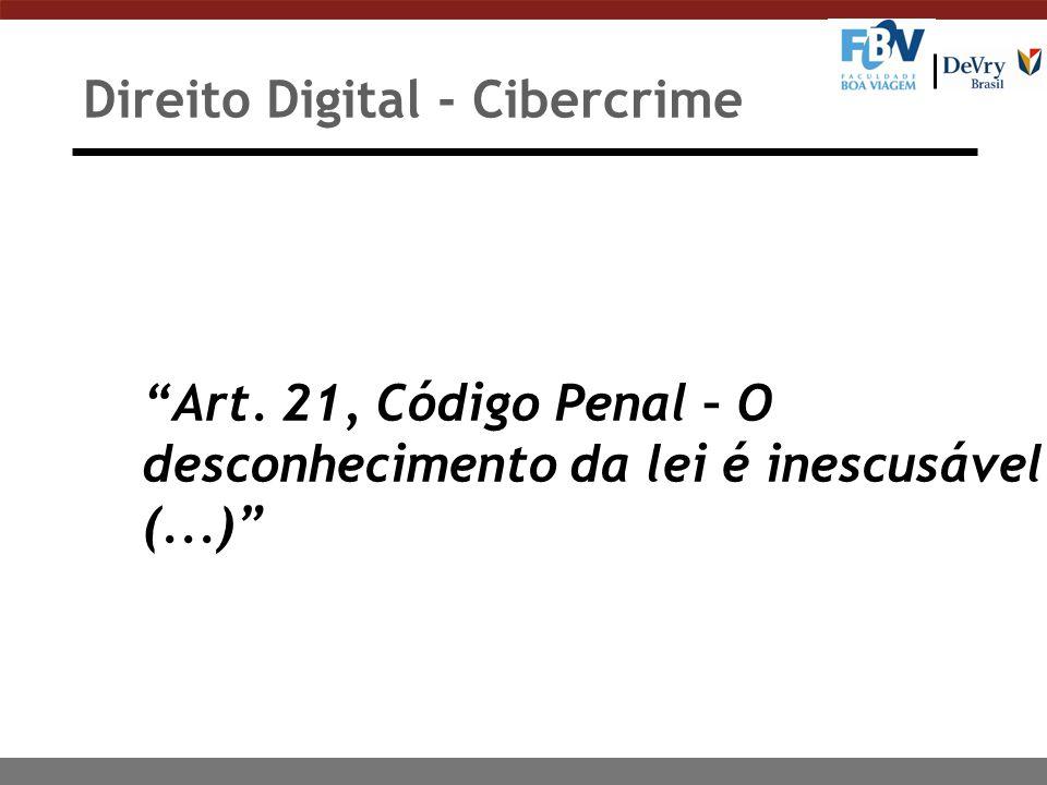 Direito Digital - Cibercrime