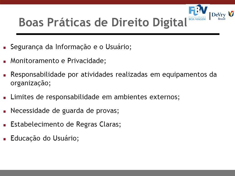 Boas Práticas de Direito Digital