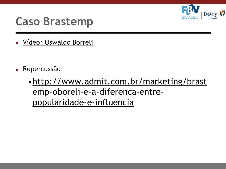 Caso Brastemp Vídeo: Oswaldo Borreli. Repercussão.