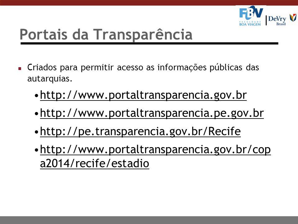Portais da Transparência